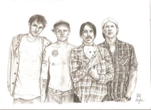 Red Hot Chili Peppers par ElenaBlackbird